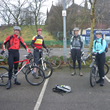MTB Christmas Ride waiting to start at the Arden Arms